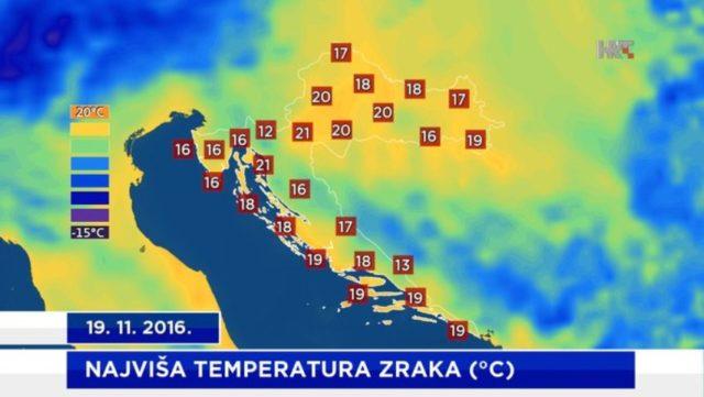Studeni uz 20 °C!