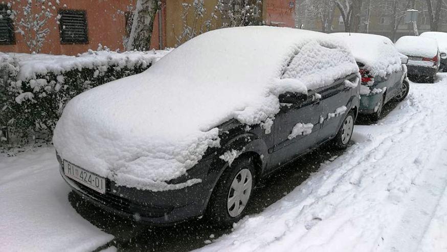 Snijeg sutra stiže skoro posvuda, čak i uz more. U Petrinji će biti do 10 centimetara