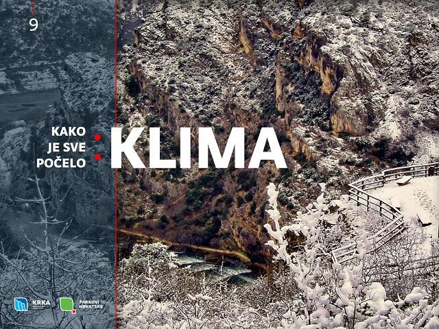 NP Krka, Kako je sve počelo: klima