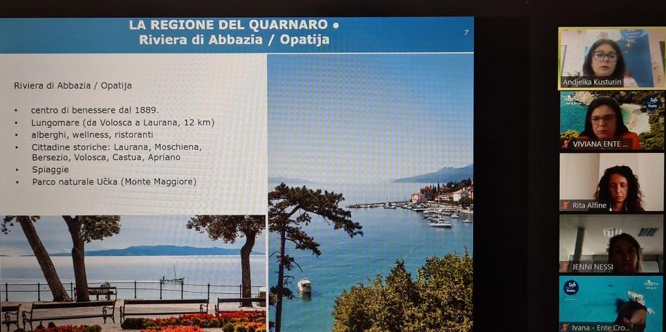 Održana još jedna virtualna prezentacija Kvarnera za partnere talijanskog touroperatora Boscolo