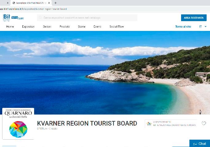 """Kvarner se predstavlja na najvećem talijanskom turističkom sajmu """"BIT Digital"""""""
