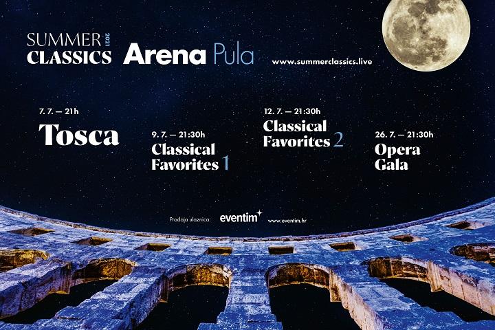 3. Summer Classics, festival riječke Opere u pulskoj Areni!