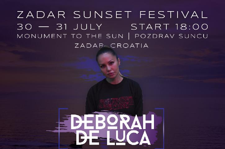 ATRAKTIVNA DJ- ica DEBORAH DE LUCA ZVIJEZDA JE DRUGOG DANA ZADAR SUNSET FESTIVALA