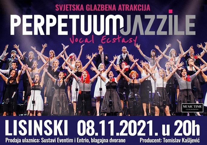 Perpetuum Jazzile u Lisinskom 8. studenog